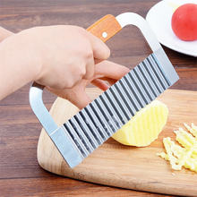 Upspirit – coupe-frites ondulé en acier inoxydable, ustensile de cuisine, coupe-frites froissé, outils pour fruits et légumes