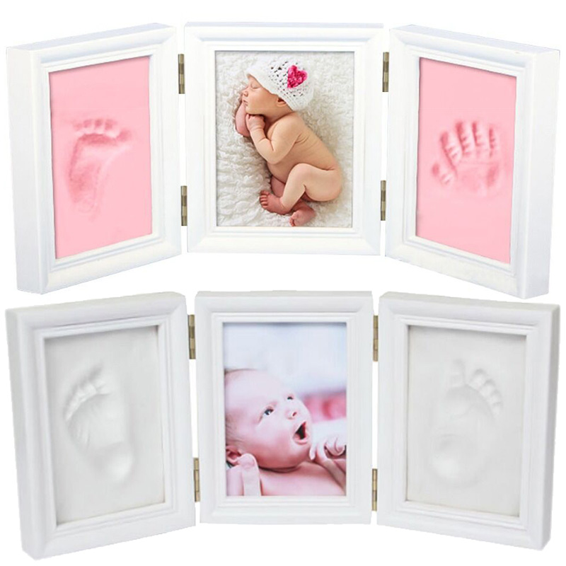 2020 Baby Hand And Foot Mold Hundred Days Gift Baby Care Baby Hand&foot Handprint Mud And Foot Print Gift Hand And Foot Print