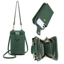 2021 neue Ins Heißer Telefon Umhängetasche Python Muster 2 Leder Strap Geldbeutel Kupplung Taschen Designer Telefon Tasche Mutifunction Brieftasche