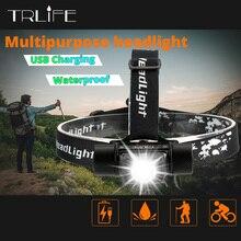 كشاف LED USB مضاد للماء للدراجة الدراجة الخفيفة القابلة لإعادة الشحن المصباح اليدوي مصباح التخييم مع تذكير الطاقة الذكية