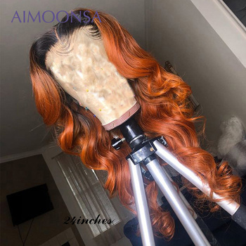 1b Orange Lace Front Wig Loose Deep Wave Wig 13*6 Deep Part  Colored Lace Front Wigs Human Hair Peruvian  Hair Wig For Women 150