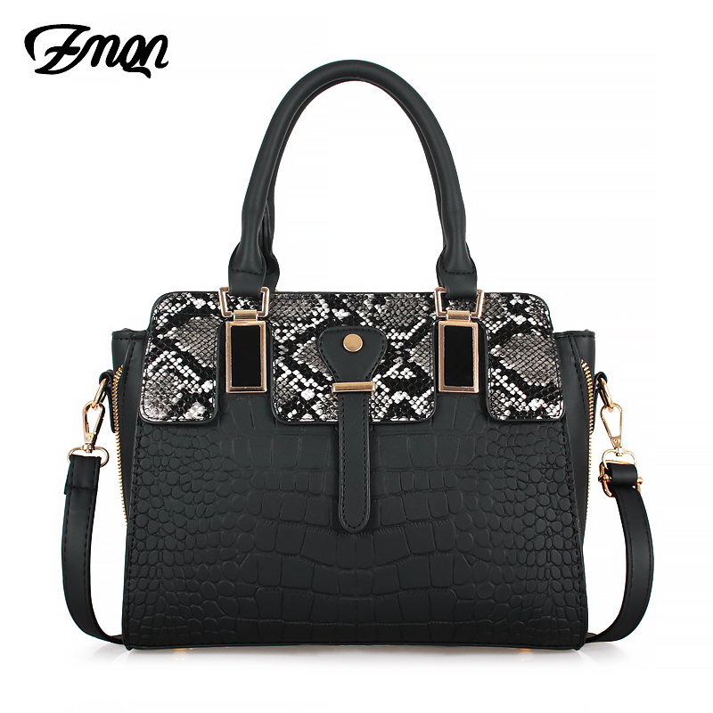 ZMQN Fashion Black Handbag Snake Ladies Crossbody Bags For Women Luxury Handbags Women Bags Designer 2020 Leather Hand Bag A866