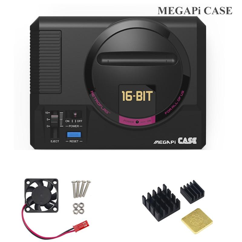 Retroflag MEGAPi CASE-M With Classic USB Controller-M + Fan+Heat Sink +5V 3A Power For Raspberry Pi 3 B Plus (3B+) / 3B / 2B