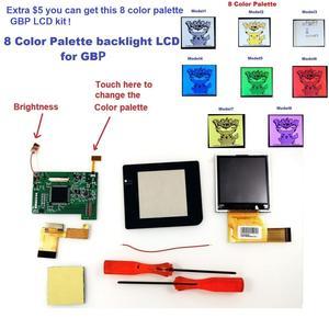 Image 5 - Arka ışık LCD GBP için arkadan aydınlatmalı LCD ekran yüksek ışık kitleri için GameBoy cep konsolu LCD ekran ışık