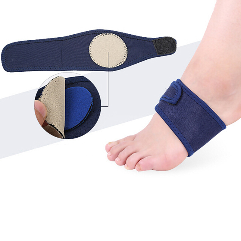2PCS Foot Pain Relief Plantar Fasciitis Orthopedic Insoles Breathable Elastic Silica Gel High Arch  Orthotics Bandage For Heel