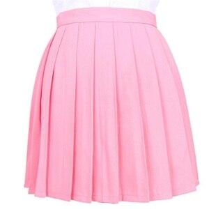 Image 3 - יפני קפלים Cos Macarons גבוהה מותן חצאית נשים של חצאיות גבירותיי Kawaii נשי קוריאני Harajuku בגדים לנשים