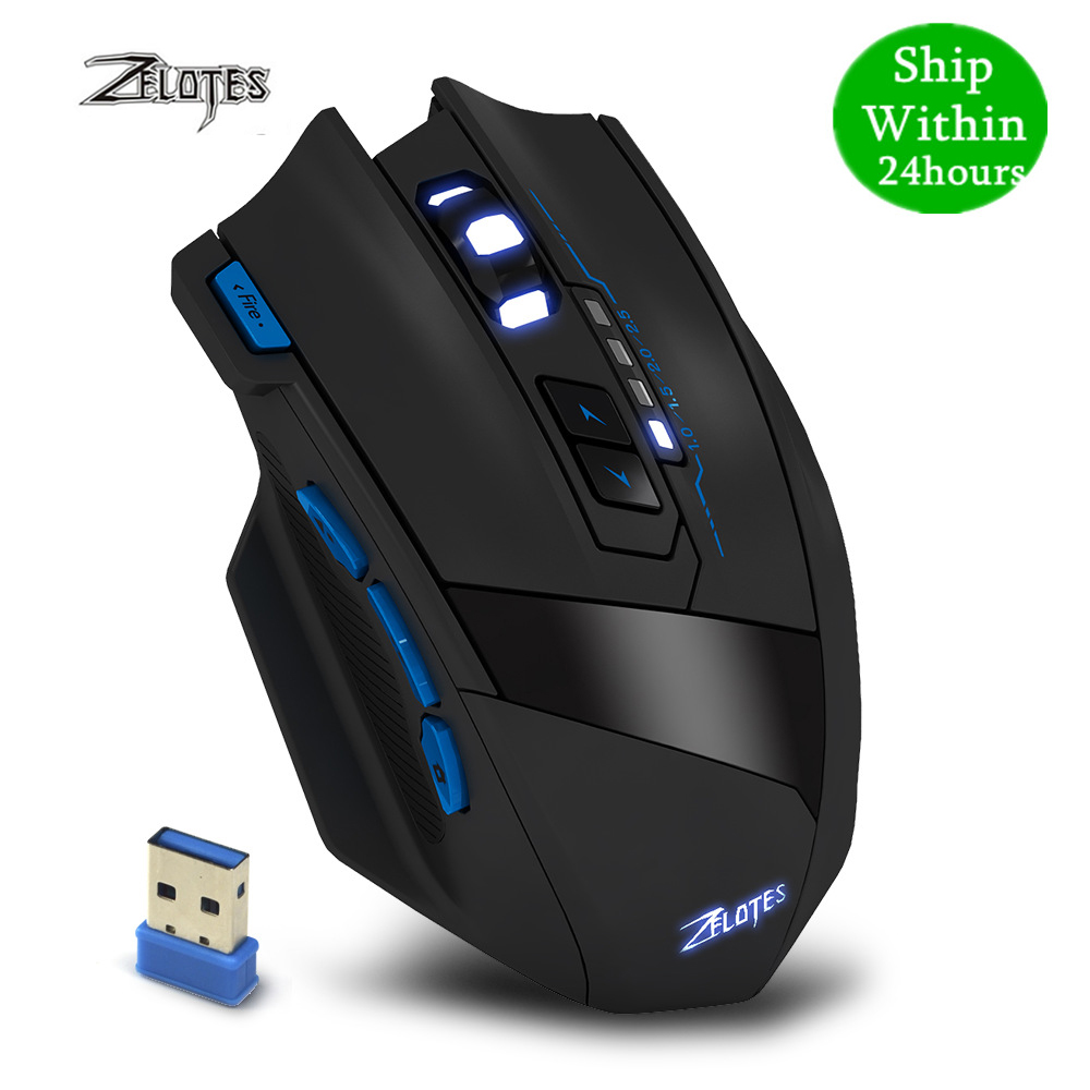 ZEALOT F 15 hot sale Original Dual mode Gaming Mouse 2500 DPI With Wireless Adjustable DPIMice   -