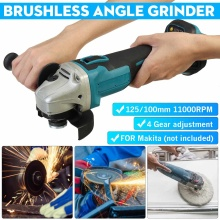100mm/125mm Brushless Cordless Impact Angle Grinder 860W 18V 4 Speed For Makita Battery DIY Power Tool Cutting Machine Polisher