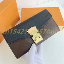 Gorący sprzedawanie luksusowy Design moda wielofunkcyjny PA11AS portfel damski moneta torebka damska etui na karty kredytowe torebka z uchwytem z pudełkiem tanie tanio CN (pochodzenie) 2 5cm litera 11cm Klipsy do banknotów 19cm Unisex
