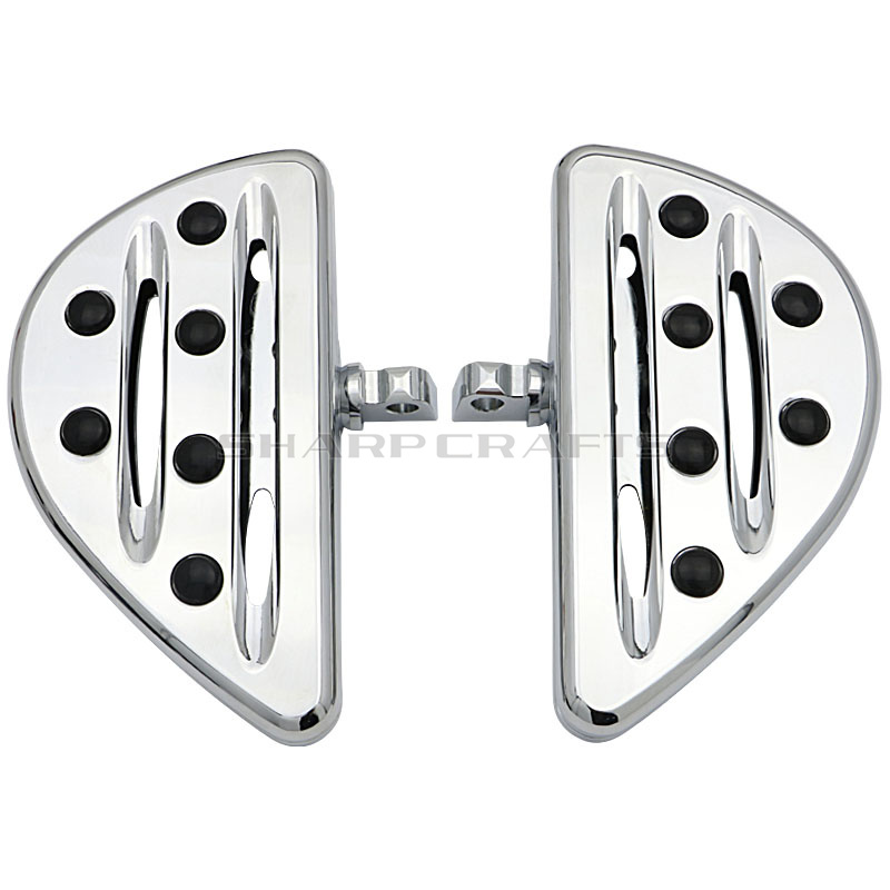 Motorcycle CNC Edge Cut Rider Driver Rear Passenger Floorboards Footboard Pedal foot pegs for Harley Dyna FLH FLST FLD Fat Boy