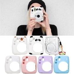 Чехол для Камеры Mini 11 Instax, мягкий силиконовый защитный чехол, устойчивый к царапинам, сумка для переноски