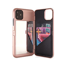 W7ETBEN Card Slot Portemonnee Make Up Spiegel Achterkant Dual Layer Flip Case Voor Iphone SE2 Xs Max Xr X 6 6S 7 8 Plus 11 Pro Max(China)