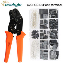 SN-28B Terminal Crimping Tools Set DuPont Crimper 23-17AWG 620pcs 2.54mm Male Female Pin Header Connector Wire Housing Kit