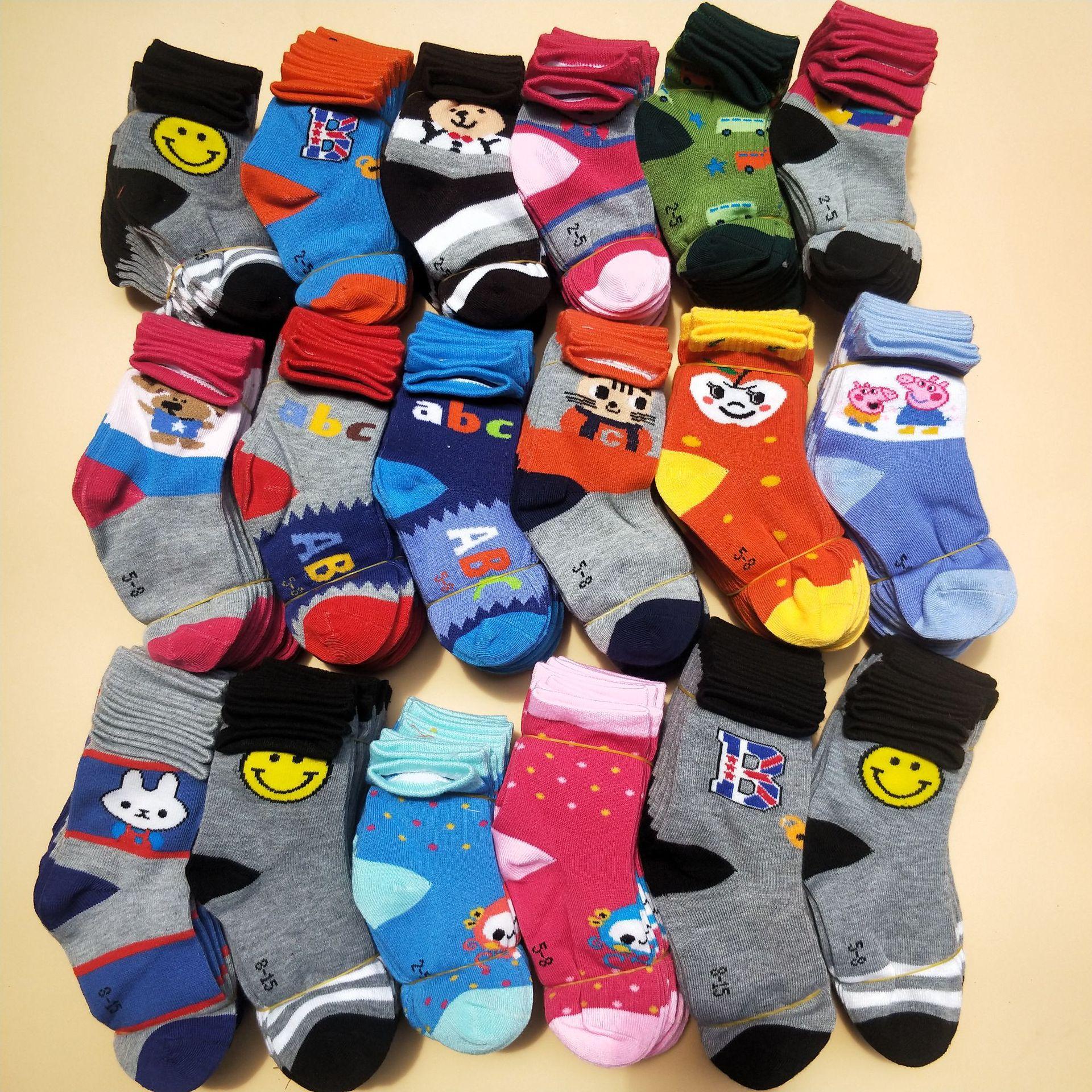 5 Pcs/lot Random Color Baby Boys Girls  Socks Toddler Kids Socks Cartoon Cotton Socks 1-7 Years Children