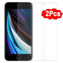 Película vidro temperado para iphone, protetor de tela de vidro temperado para iphone 11 pro xs max xr x se 2020 2 peças 6 s 7 8 plus 11 se 2 vidro