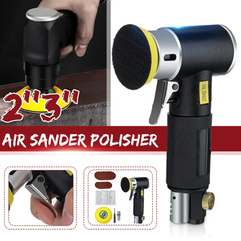 Pneumatic Polisher 90 Degree Orbital Sanders Air Powered Tool With 23inch Pad
