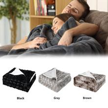 Super Soft Double-layered Blanket Travel Fleece Car Cover Flannel Aircraft Sofa Use Office Children Towel