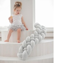 Bumper-Fence Room-Decor Bed for Newborn Crib Sleeping-Protector Infant HM0100 4-Braid
