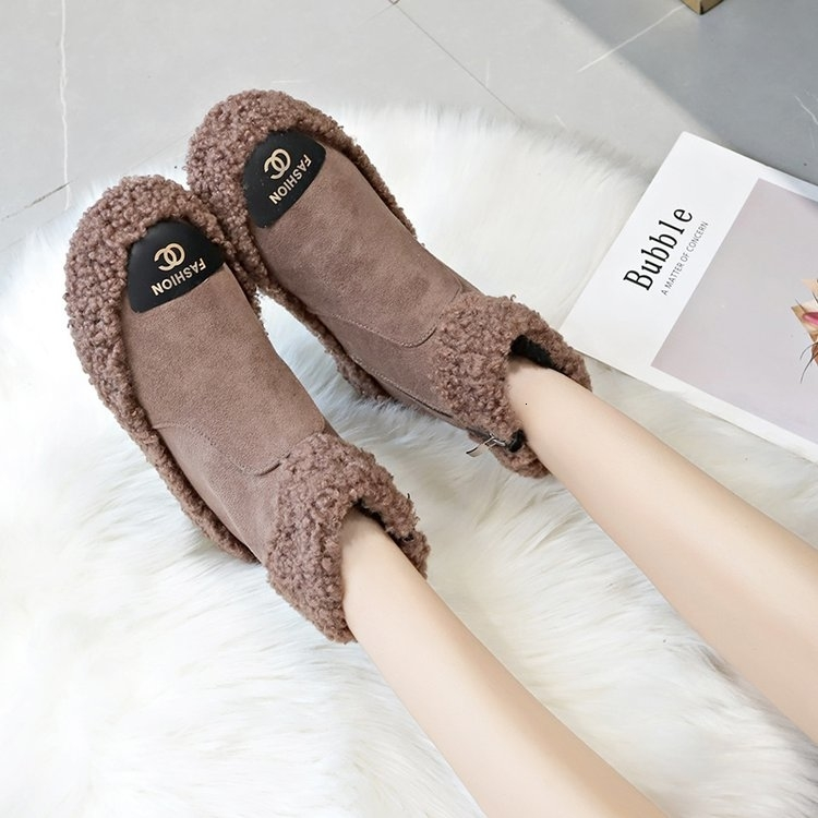 Women Boots 2019 New Plush Snow Boots For Winter Shoes Women Casual Lightweight Ankle Botas Mujer Warm Winter Boots Female 78