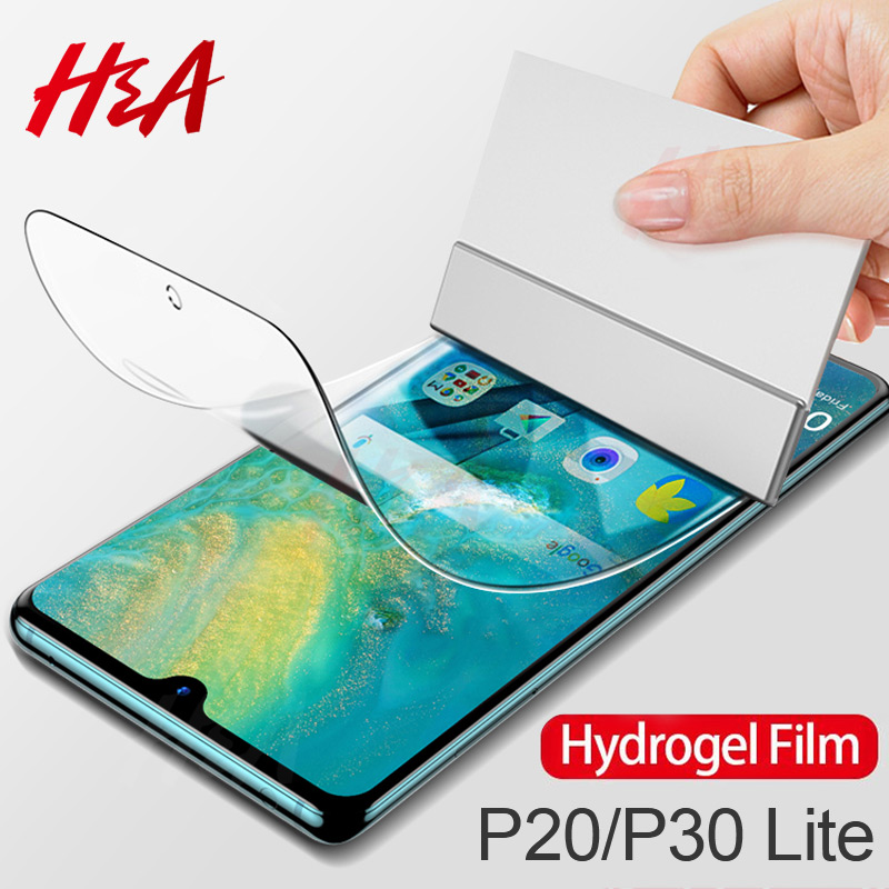 H&A 2Pcs 45D Hydrogel Film For Huawei P30 P20 Mate 20 Lite Pro Screen Protector Honor 9 Lite 10 8X Soft Protective Film