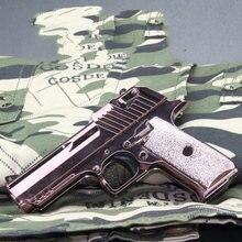 Pistola Beretta Colt Glock de aleación para adultos y niños, modelo de juguete de simulación 1:6