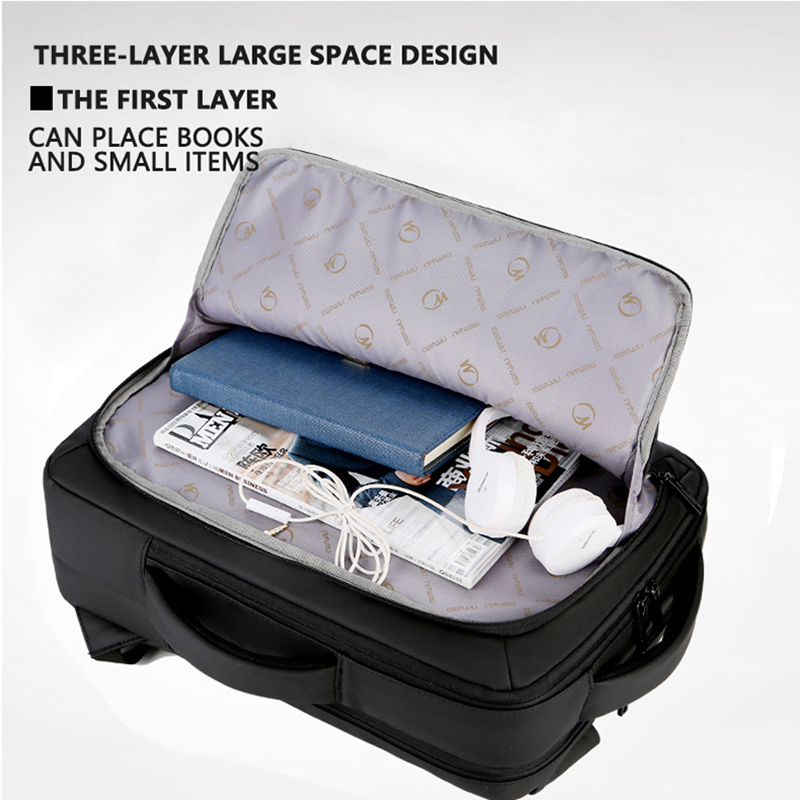 Image 3 - 2019 Mens Anti theft 14 15.6 inch Laptop Backpack USB Charging  Waterproof Male Business Travel Back Pack  Boys School  BagpacksBackpacks
