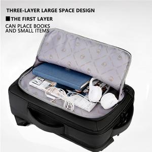 "Image 3 - 2019 Mens Anti theft 14 15.6"" inch Laptop Backpack USB Charging Waterproof Male Business Travel Back Pack  Boys School Bagpacks"