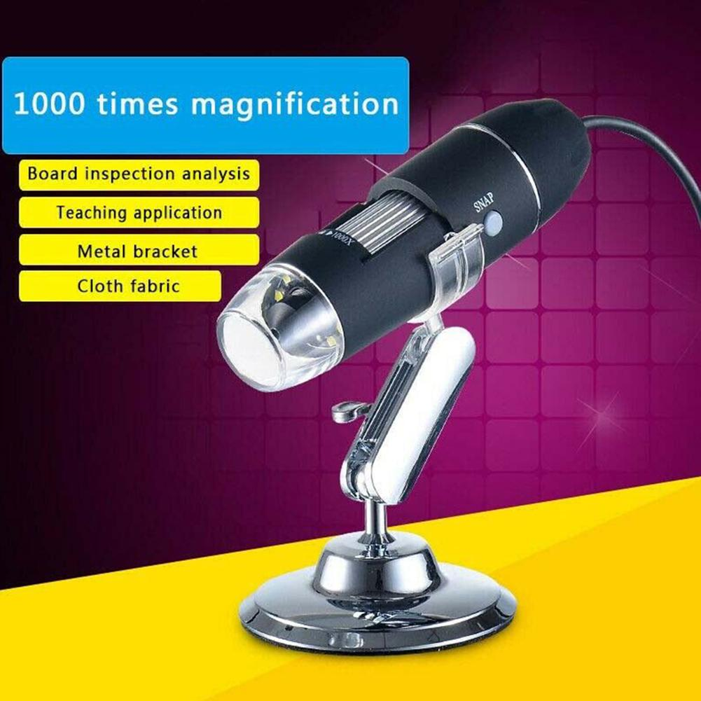 1000/1600X HD USB Digital Microscope Magnifier Endoscope Camera Video Science Lab Tool  For PC