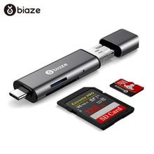 цена на Biaze Card Reader USB 3.0 SD/Micro SD TF OTG Smart Memory Card Adapter for Laptop USB 3.0 Type C Cardreader SD Card Reader
