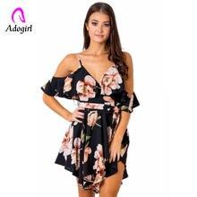 Женское шифоновое платье на бретельках элегантное короткое с