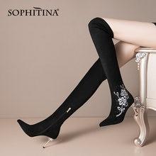 Sophitina/женские сапоги; Новые Модные Элегантные сапоги выше