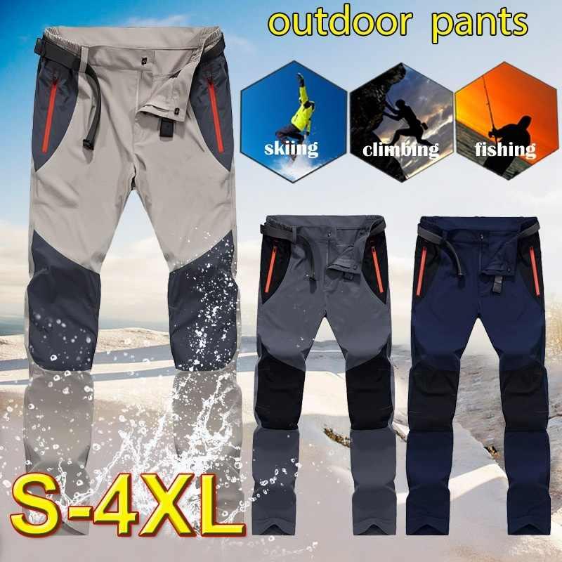 Pantalones tácticos impermeables de carga para hombre, pantalones de secado rápido para primavera y verano, pantalones de pesca para senderismo y deportes al aire libre para hombre, 4XL