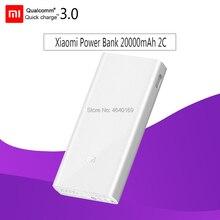 Xiaomi Mi 2C QC3.0 Мощность банк 20000 мАч Мобильный Портативный Мощность банк 2 Dual USB Выход двухполосный быстрый заряд полимерная батарея для мобильного телефона