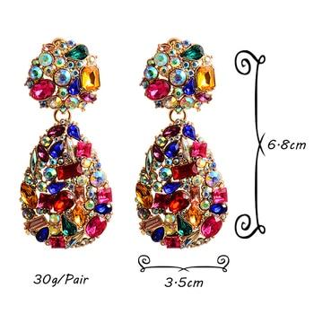 Colorful Crystal Pear Shaped Rhinestone Drop Earrings 6