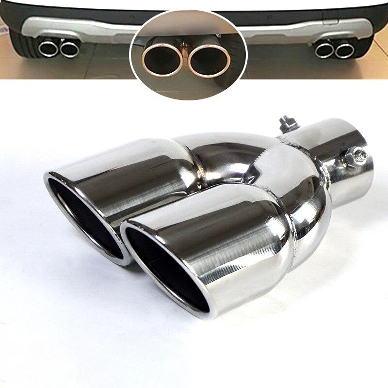 "1Pcs ID:2.2/""57mm OD:3.0/""76mm AKRAPOVIC Exhaust Tip Muffler Pipe Carbon Fiber"