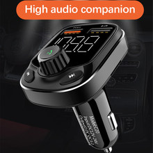 1.1 inch Car MP3 Radio Bluetooth Player Fast Charging LED Digital Display Large Screen Dual USB FM Transmitter Bluetooth 5.0 C20(China)
