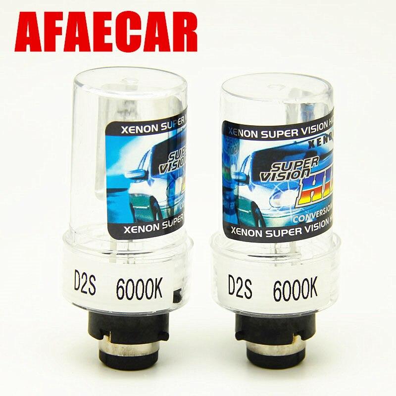AFAECAR 2pcs  35W HID Xenon Light Lamp D2S 4300k 6000k D2S 8000k 10000k Bulb