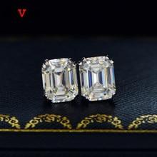 Nuevos-pendientes clásicos de Plata de Ley 925 con gemas de moissanita, joyería fina con diamantes