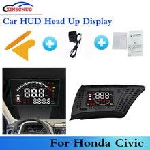 цена на XINSCNUO OBD Car Head Up Display HUD For Honda Civic 2017-2019 Projector Screen Mileage Fuel Consumption Detector