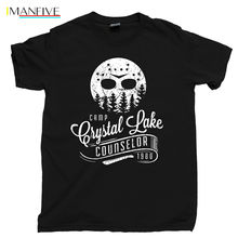 Camp Crystal Lake Counselor T Shirt Jason Voorhees Hockey Mask TGIF Machete Tee custom t shirts shirt design funny
