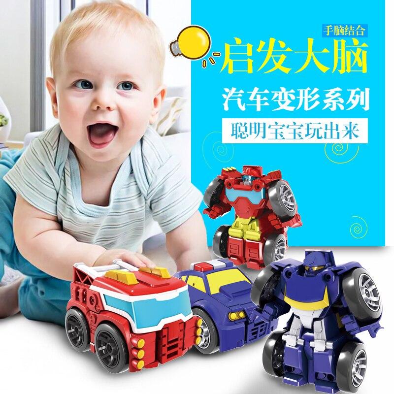 Детские игрушки для мальчиков, трансформация, робот-машинка, игрушки для действий, мини-машинки, робот, Классическая модель, деформационные