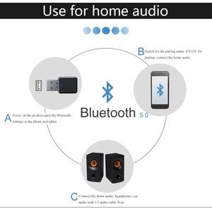 Image 4 - 2 In1 Bluetooth 5.0 ses alıcısı verici kablosuz adaptör Mini 3.5mm AUX Stereo Bluetooth verici TV PC için araba çift