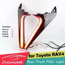 Светодиодный задний фонарь-отражатель для багажника Toyota RAV4, 2019, 2020, задний фонарь с поворотным сигналом, задний фонарь с красной линзой