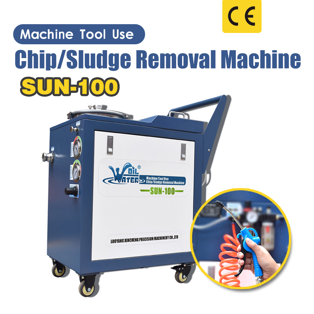 Sun -100 Pneumatic Wastewater Chip/Sludge Removal Machine Coolant Disposal System Cleaner for CNC Machine Water Tank Cleaning image