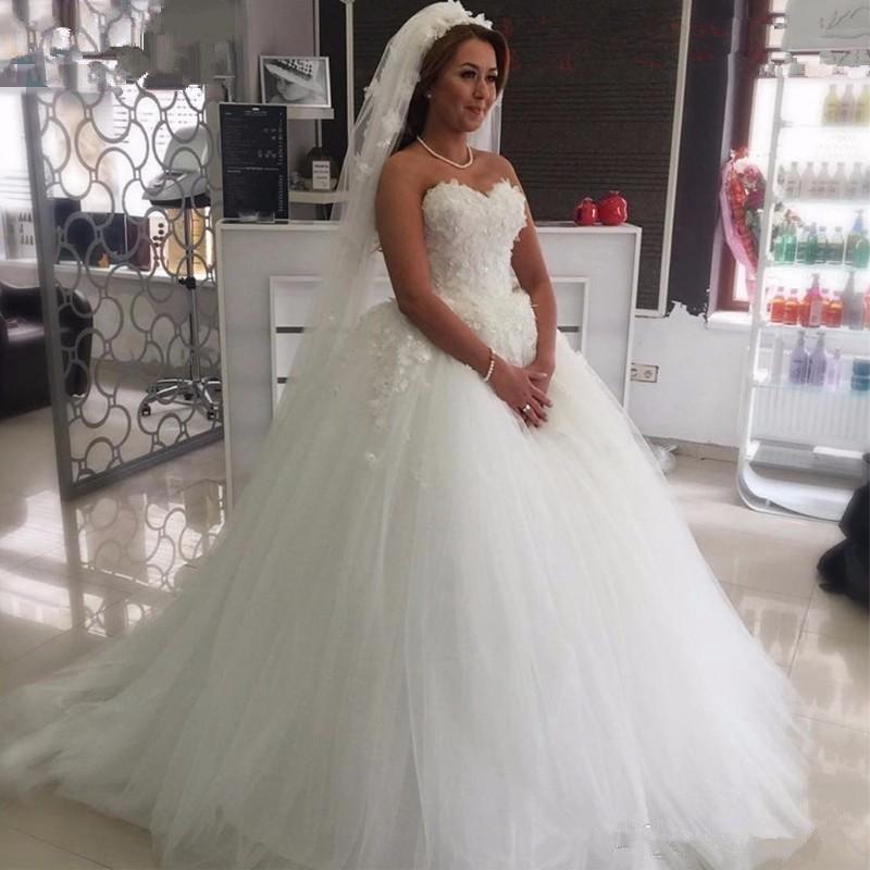 ANGELSBRIDEP-Sweetheart-Ball-Gown-Wedding-Dresses-Bohemian-Luxury-Applique-Beading-Vestido-De-Noiva-Formal-Bride-Wedding