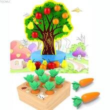 Деревянное магнитное фруктовое дерево игрушки Монтессори Детские