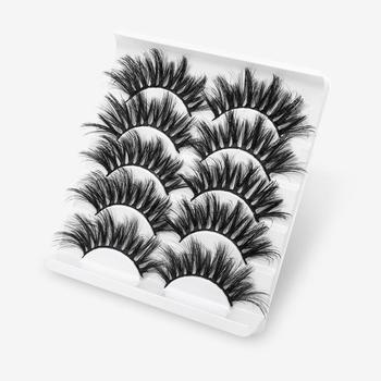 5Pairs 3D Mink Hair False Eyelashes Natural/Thick Long Eye Lashes Wispy Makeup Beauty Extension Tools Beauty Essentials