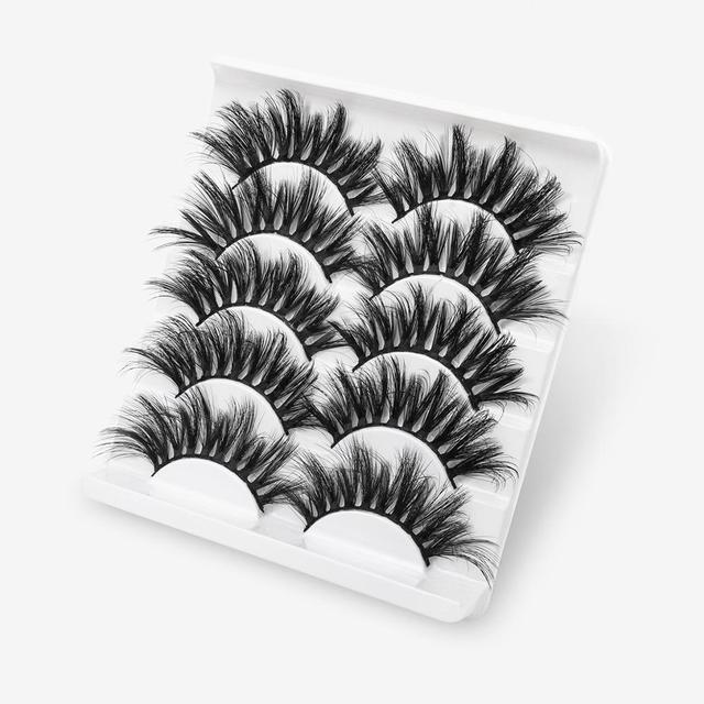 SEXYSHEEP 5Pairs 3D Mink Hair False Eyelashes Natural/Thick Long Eye Lashes Wispy Makeup Beauty Extension Tools 2