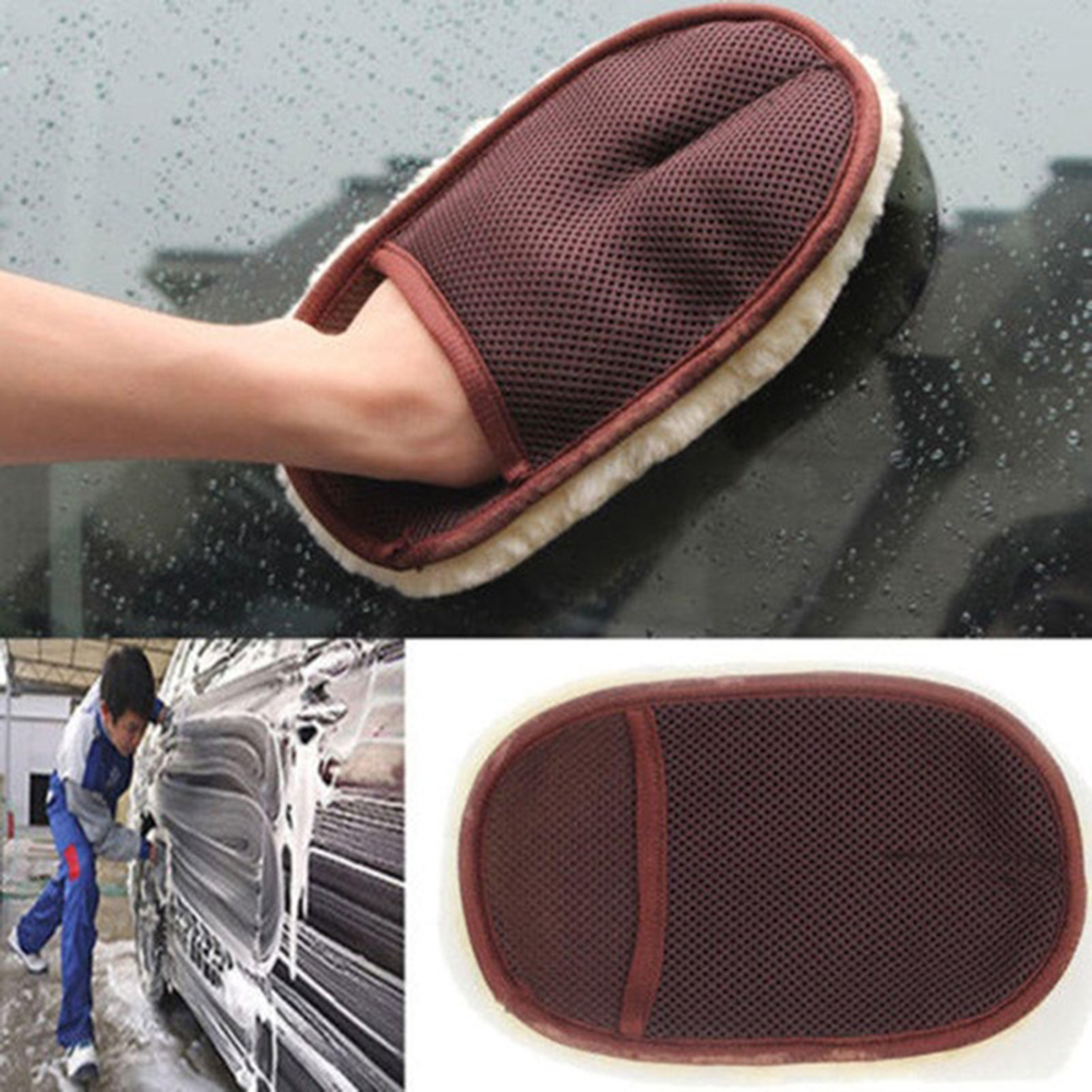 Car Care Gloves Cleaning Brushes Polishing Mitt Brush Super Clean Wool Car Wash Glove Car Cleaning Car Motorcycle Washer #734