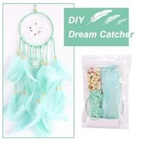 Dream Catchers Kit for Kids Handmade Wall Decoration Catchers for Nursery Baby Room Kids Gift Bedroom Wall Decor With 2M Lights
